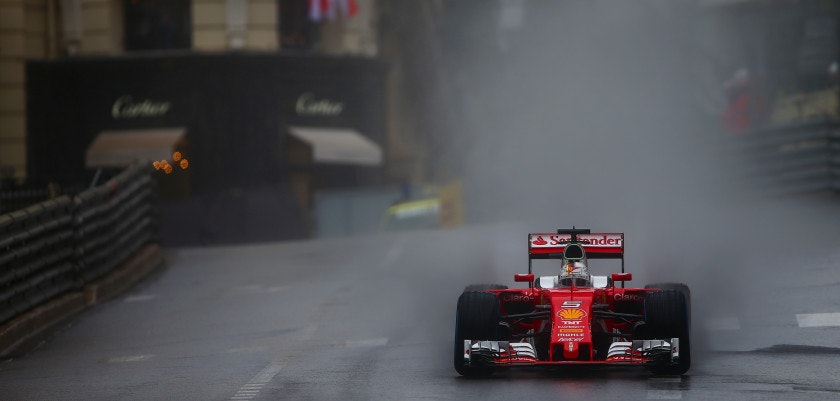 MONTE-CARLO, MONACO - MAY 29:  Sebastian Vettel of Germany drives the  Scuderia Ferrari SF16-H Ferrari 059/5 turbo during the Monaco Formula One Grand Prix at Circuit de Monaco on May 29, 2016 in Monte-Carlo, Monaco.  (Photo by Dan Istitene/Getty Images)
