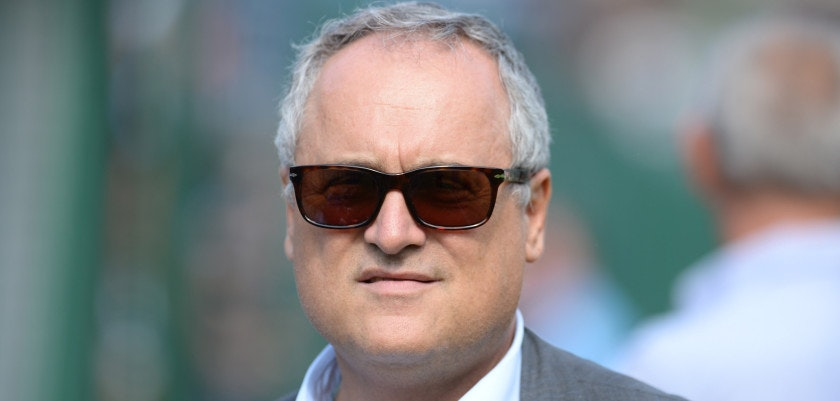 CORTINA D'AMPEZZO, ITALY - JULY 18:  President of SS Lazio Claudio Lotito looks on during the preseason friendly match between SS Lazio and Vicenza Calcio on July 18, 2015 in Auronzo near Cortina d'Ampezzo, Italy.  (Photo by Dino Panato/Getty Images)