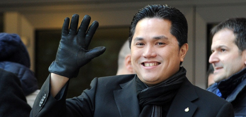 MILAN, ITALY - DECEMBER 01:  New President of FC Internazionale Nilano Erick Thohir during the Serie A match between FC Internazionale Milano and UC Sampdoria at San Siro Stadium on December 1, 2013 in Milan, Italy.  (Photo by Pier Marco Tacca/Getty Images)