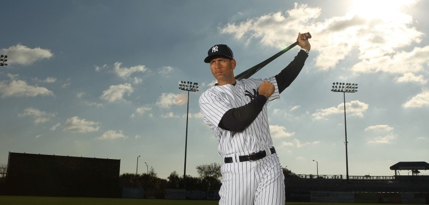 TAMPA, FL - FEBRUARY 25:  Alex Rodriguez #13 of the New York Yankees poses for a photo during Spring Training Media Photo Day at George M. Steinbrenner Field on February 25, 2010 in Tampa, Florida.  (Photo by Nick Laham/Getty Images)
