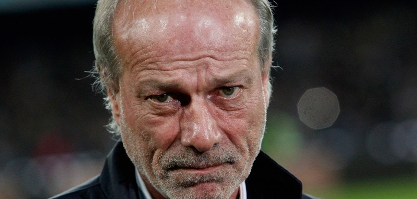 NAPLES, ITALY - DECEMBER 13:  Sporting director of Roma Walter Sabatini during the Serie A match betweeen SSC Napoli and AS Roma at Stadio San Paolo on December 13, 2015 in Naples, Italy.  (Photo by Maurizio Lagana/Getty Images)