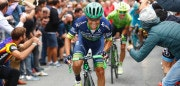 Esteban Chaves of team Orica rides during the 110th edition of the giro di Lombardia (Tour of Lombardy),  a 241 km cycling race from Como to Bergamo on October 1, 2016. Esteban Chaves, of the Orica team, beat Italian Diego Rosa in a dramatic sprint finish on Saturday to become the first Colombian winner of the Tour of Lombardy.  Rosa, of Astana, finished second with another Colombian, Rigoberto Uran, in third place / AFP / LUK BENIES        (Photo credit should read LUK BENIES/AFP/Getty Images)