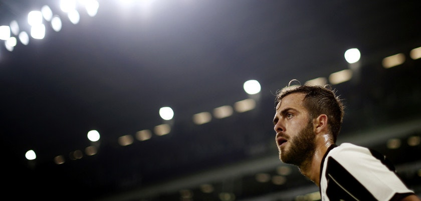 Juventus' midfielder Miralem Pjanic of Bosnia-Erzegovina looks on during the Italian Serie A football match Juventus Vs Atalanta on December 3, 2016 at the 'Juventus Stadium' in Turin.  / AFP / MARCO BERTORELLO        (Photo credit should read MARCO BERTORELLO/AFP/Getty Images)
