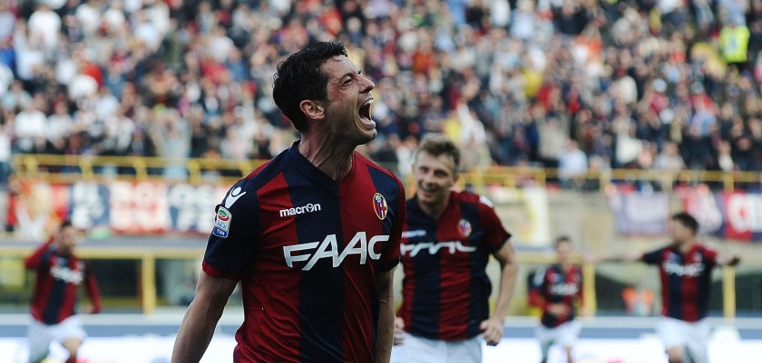 BOLOGNA, ITALY - MARCH 19:  Blerim Dzemaili # 31 of Bologna FC celebrates after scoring his team's second goal during the Serie A match between Bologna FC and AC ChievoVerona at Stadio Renato Dall'Ara on March 19, 2017 in Bologna, Italy.  (Photo by Mario Carlini / Iguana Press/Getty Images)
