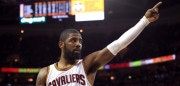 CLEVELAND, OH - JUNE 09: Kyrie Irving #2 of the Cleveland Cavaliers gestures to the crowd in the third quarter against the Golden State Warriors in Game 4 of the 2017 NBA Finals at Quicken Loans Arena on June 9, 2017 in Cleveland, Ohio. NOTE TO USER: User expressly acknowledges and agrees that, by downloading and or using this photograph, User is consenting to the terms and conditions of the Getty Images License Agreement.  (Photo by Ronald Martinez/Getty Images)