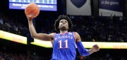 LEXINGTON, KY - JANUARY 28:  Josh Jackson #11 of the Kansas Jayhawks shoots the ball against the Kentucky Wildcats during the game against at Rupp Arena on January 28, 2017 in Lexington, Kentucky.  (Photo by Andy Lyons/Getty Images)