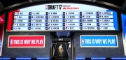 NEW YORK, NY - JUNE 22:  The draft board is seen displaying picks 1 through 30 after the first round of the 2017 NBA Draft at Barclays Center on June 22, 2017 in New York City. NOTE TO USER: User expressly acknowledges and agrees that, by downloading and or using this photograph, User is consenting to the terms and conditions of the Getty Images License Agreement.  (Photo by Mike Stobe/Getty Images)