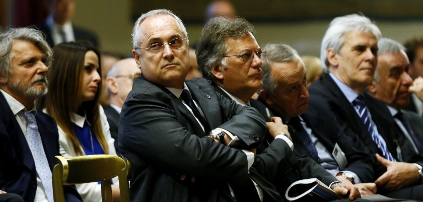 ROME, ITALY - MAY 24:  Claudio Lotito attends the Italian Football Federation Annual Report at Palazzo Montecitorio on May 24, 2016 in Rome, Italy.  (Photo by Ernesto Ruscio/Getty Images)