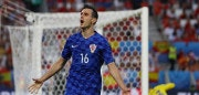 BORDEAUX, FRANCE - JUNE 21:  Nikola Kalinic of Croatia celebrates scoring his team's first goal during the UEFA EURO 2016 Group D match between Croatia and Spain at Stade Matmut Atlantique on June 21, 2016 in Bordeaux, France.  (Photo by Dean Mouhtaropoulos/Getty Images)