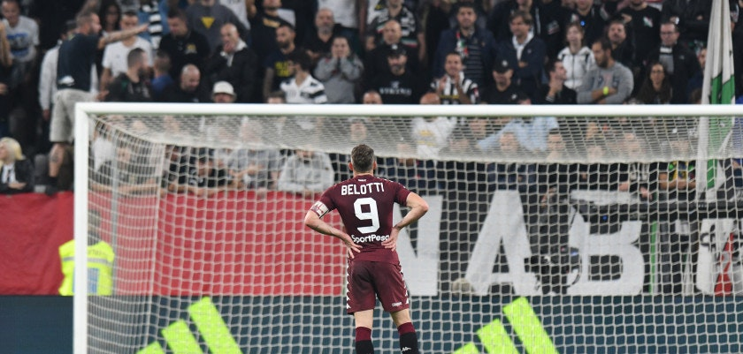 TURIN, ITALY - SEPTEMBER 23: Andrea Belotti of Torino FC during the Serie A match between Juventus and Torino FC on September 23, 2017 in Turin, Italy.  (Photo by Alessandro Sabattini/Getty Images )