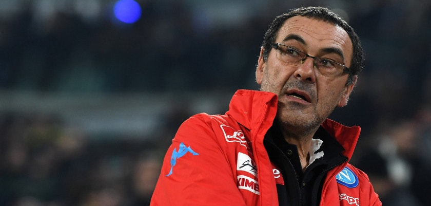 TURIN, ITALY - FEBRUARY 28:  SSC Napoli head coach Maurizio Sarri looks on during the TIM Cup match between Juventus FC and SSC Napoli at Juventus Arena on February 28, 2017 in Turin, Italy.  (Photo by Valerio Pennicino/Getty Images)