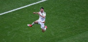 TOPSHOT - Mexico's forward Hirving Lozano celebrates after scoring the team's second goal during the 2017 Confederations Cup group A football match between Mexico and Russia at the Kazan Arena Stadium in Kazan on June 24, 2017. / AFP PHOTO / Roman Kruchinin        (Photo credit should read ROMAN KRUCHININ/AFP/Getty Images)