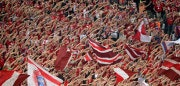 MUNICH, GERMANY - MAY 12:  Bayern Munich fans show their support during the UEFA Champions League semi final second leg match between FC Bayern Muenchen and FC Barcelona at Allianz Arena on May 12, 2015 in Munich, Germany.  (Photo by Adam Pretty/Bongarts/Getty Images)