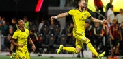 ATLANTA, GA - OCTOBER 26:  Josh Williams #3 and Ola Kamara #11 of the Columbus Crew celebrates after Adam Jahn #12 converts a penalty kick to give the Crew a win over the Atlanta United 3-1 on penalties during the Eastern Conference knockout round at Mercedes-Benz Stadium on October 26, 2017 in Atlanta, Georgia.  (Photo by Kevin C. Cox/Getty Images)