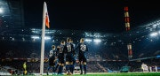 COLOGNE, GERMANY - NOVEMBER 26: Players of Berlin celebrate the opening goal during the Bundesliga match between 1. FC Koeln and Hertha BSC at RheinEnergieStadion on November 26, 2017 in Cologne, Germany. (Photo by Alexander Scheuber/Bundesliga/DFL via Getty Images )