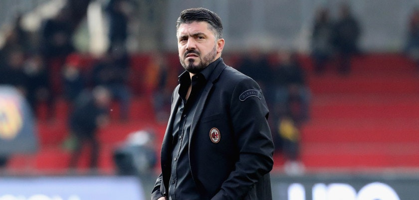 BENEVENTO, ITALY - DECEMBER 03:  Head coach of Milan Gennaro Gattuso during the Serie A match between Benevento Calcio and AC Milan at Stadio Ciro Vigorito on December 3, 2017 in Benevento, Italy.  (Photo by Maurizio Lagana/Getty Images)