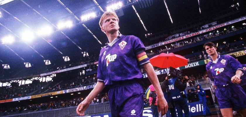 FLORENCE, ITALY - APRIL 25:  ITALIENISCHE LIGA/SERIE A 92/93, Florenz; Stefan EFFENBERG/AC FLORENZ  (Photo by Michael Kunkel/Bongarts/Getty Images)