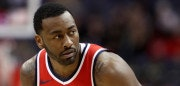 WASHINGTON, DC - DECEMBER 13: John Wall #2 of the Washington Wizards looks on against the Memphis Grizzlies at Capital One Arena on December 13, 2017 in Washington, DC. NOTE TO USER: User expressly acknowledges and agrees that, by downloading and or using this photograph, User is consenting to the terms and conditions of the Getty Images License Agreement. (Photo by Rob Carr/Getty Images)