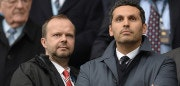 Manchester United's executive vice-chairman Ed Woodward (L) and Manchester City Emirati chairman Khaldoon al-Mubarak speak ahead of the English Premier League football match between Manchester City and Manchester United at the Etihad Stadium in Manchester, north west England, on March 20, 2016. / AFP PHOTO / OLI SCARFF / RESTRICTED TO EDITORIAL USE. No use with unauthorized audio, video, data, fixture lists, club/league logos or 'live' services. Online in-match use limited to 75 images, no video emulation. No use in betting, games or single club/league/player publications.  / The erroneous mention[s] appearing in the metadata of this photo by OLI SCARFF  has been modified in AFP systems in the following manner: [Manchester United's executive vice-chairman Ed Woodward (L) and Manchester City Emirati chairman Khaldoon al-Mubarak speak] instead of [Manchester United's executive vice-chairman Ed Woodward (L) and Manchester City's Emirati owner Sheikh Mansour bin Zayed al-Nahyan]. Please immediately remove the erroneous mention[s] from all your online services and delete it (them) from your servers. If you have been authorized by AFP to distribute it (them) to third parties, please ensure that the same actions are carried out by them. Failure to promptly comply with these instructions will entail liability on your part for any continued or post notification usage. Therefore we thank you very much for all your attention and prompt action. We are sorry for the inconvenience this notification may cause and remain at your disposal for any further information you may require.        (Photo credit should read OLI SCARFF/AFP/Getty Images)