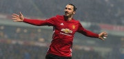 BLACKBURN, ENGLAND - FEBRUARY 19:  Zlatan Ibrahimovic of Manchester United celebrates scoring their second goal during the Emirates FA Cup Fifth Round match between Blackburn Rovers and Manchester United at Ewood Park on February 19, 2017 in Blackburn, England.  (Photo by Matthew Peters/Man Utd via Getty Images)