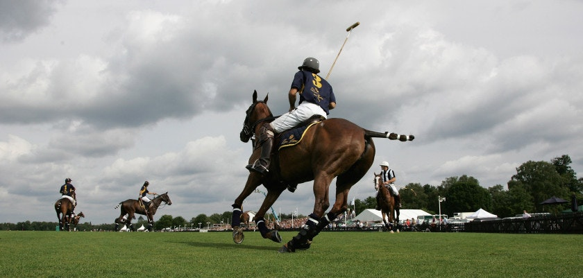 WINDSOR, UNITED KINGDOM - JUNE 17:  Juan Martin Nero of Loro Piana in action during The Vivari Queen's Cup Final at Guards Polo Club on June 17, 2007 in Windsor, England.  (Photo by Gareth Cattermole/Getty Images) *** Local Caption *** Juan Martin Nero