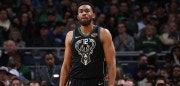 Milwaukee, WI - FEBRUARY 2:   Jabari Parker #12 of the Milwaukee Bucks looks on during the game against the New York Knicks on February 2, 2018 at the BMO Harris Bradley Center in Milwaukee, Wisconsin. NOTE TO USER: User expressly acknowledges and agrees that, by downloading and or using this Photograph, user is consenting to the terms and conditions of the Getty Images License Agreement. Mandatory Copyright Notice: Copyright 2018 NBAE (Photo by Gary Dineen/NBAE via Getty Images)