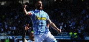 FERRARA, ITALY - MAY 06:  Mirco Antenucci of Spal celebrates after scoring his team's second goal  during the serie A match between Spal and Benevento Calcio at Stadio Paolo Mazza on May 6, 2018 in Ferrara, Italy.  (Photo by Mario Carlini / Iguana Press/Getty Images)