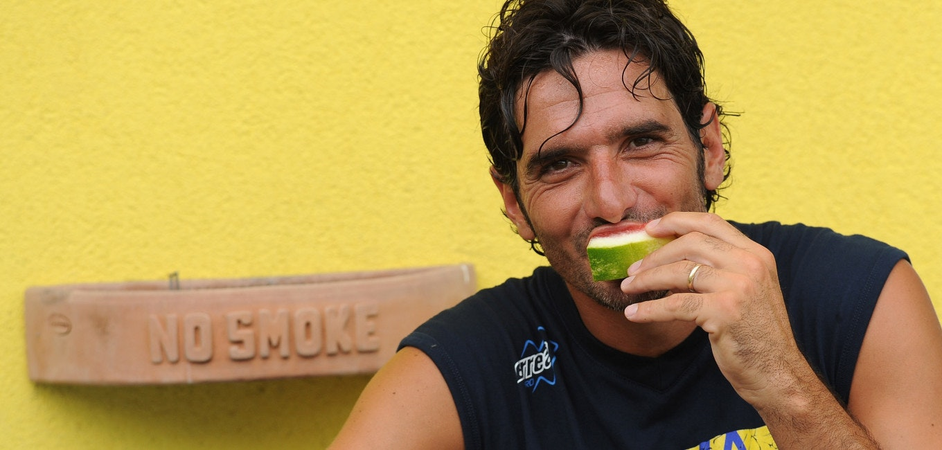 TRENTO, ITALY - JULY 13:  Alessandro Lucarelli of FC Parma looks on during a FC Parma training session on July 13, 2011 in Levico Terme Trento, Italy.  (Photo by Valerio Pennicino/Getty Images)