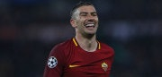 ROME, ITALY - APRIL 10:  Aleksandar Kolarov of AS Roma reacts during the UEFA Champions League quarter final second leg between AS Roma and FC Barcelona at Stadio Olimpico on April 10, 2018 in Rome, Italy.  (Photo by Paolo Bruno/Getty Images)