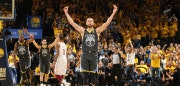 OAKLAND, CA - JUNE 3: Stephen Curry #30 of the Golden State Warriors reacts to a play in Game Two of the 2018 NBA Finals against the Cleveland Cavaliers on June 3, 2018 at ORACLE Arena in Oakland, California. NOTE TO USER: User expressly acknowledges and agrees that, by downloading and/or using this photograph, user is consenting to the terms and conditions of Getty Images License Agreement. Mandatory Copyright Notice: Copyright 2018 NBAE (Photo by Nathaniel S. Butler/NBAE via Getty Images)