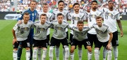 LEVERKUSEN, GERMANY - JUNE 08: The team of Germany line up before the International Friendly match between Germany and Saudi Arabia at BayArena on June 8, 2018 in Leverkusen, Germany.  (Photo by Martin Rose/Bongarts/Getty Images)