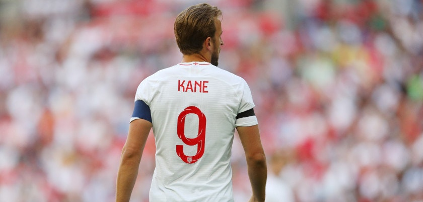LONDON, ENGLAND - JUNE 02: Harry Kane of England during the International Friendly match between England and Nigeria at Wembley Stadium on June 2, 2018 in London, England. (Photo by Catherine Ivill/Getty Images)