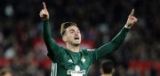 Real Betis' Spanish midfielder Fabian Ruiz celebrates after scoring a goal during the Spanish league football match between Sevilla and Real Betis at the Sanchez Pizjuan stadium in Sevilla on January 6, 2018. / AFP PHOTO / CRISTINA QUICLER        (Photo credit should read CRISTINA QUICLER/AFP/Getty Images)