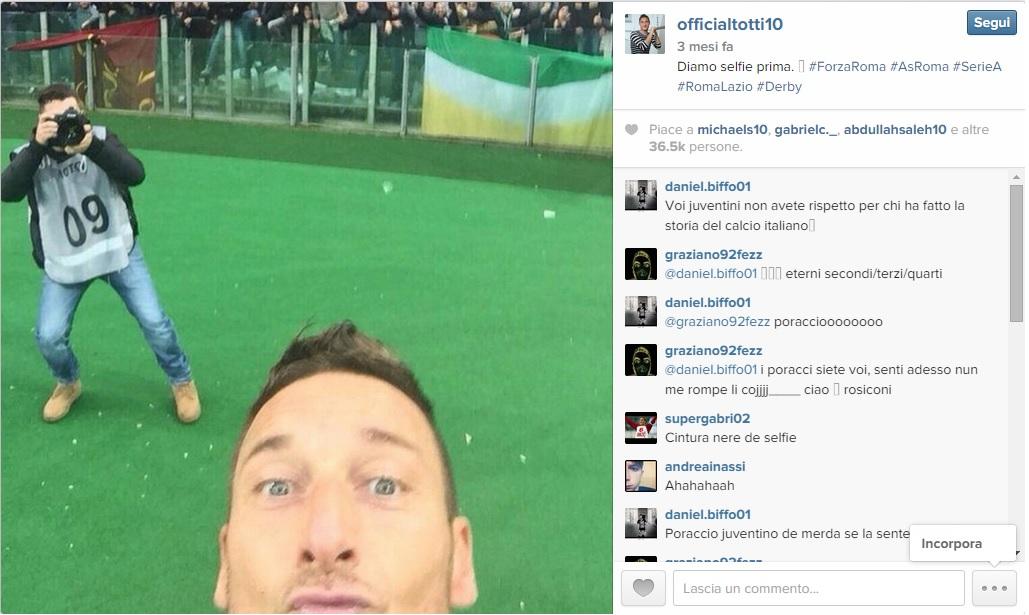 Instagram Totti