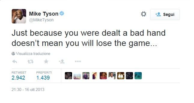 Tyson tweet