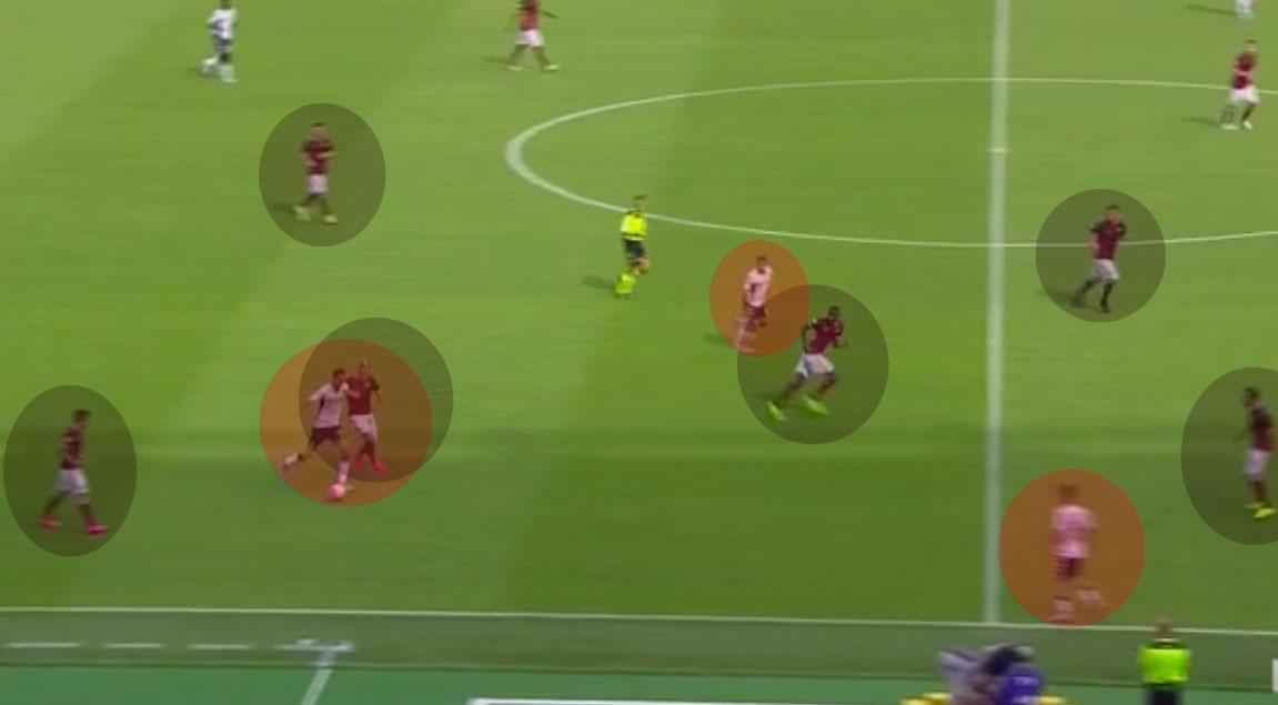 Roma-Sassuolo-gol-Sass-tutti-soli-#1