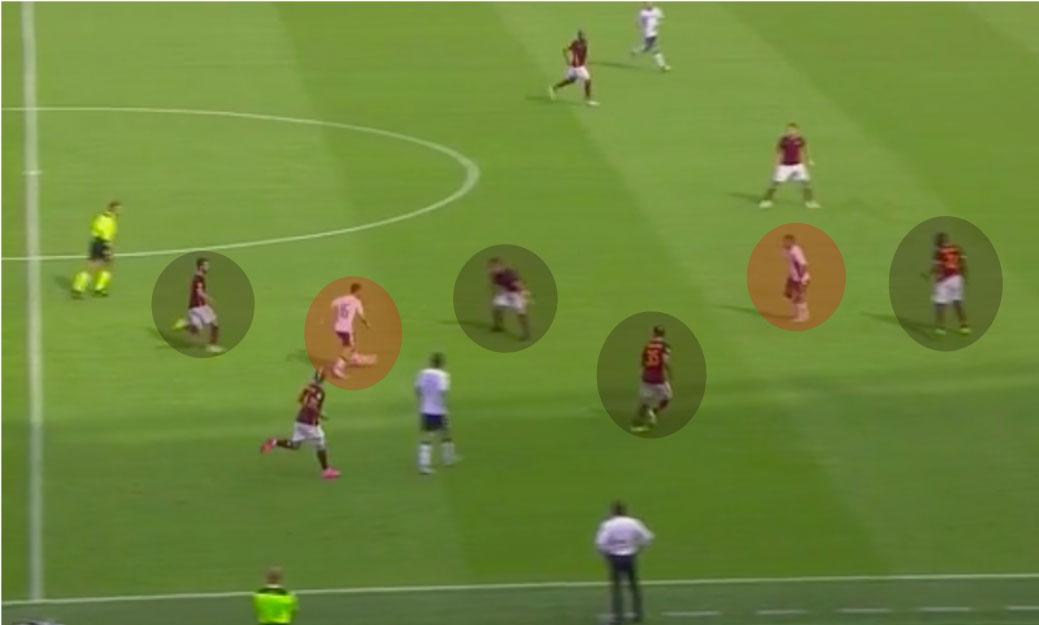 Roma-Sassuolo-gol-Sass-tutti-soli-#2