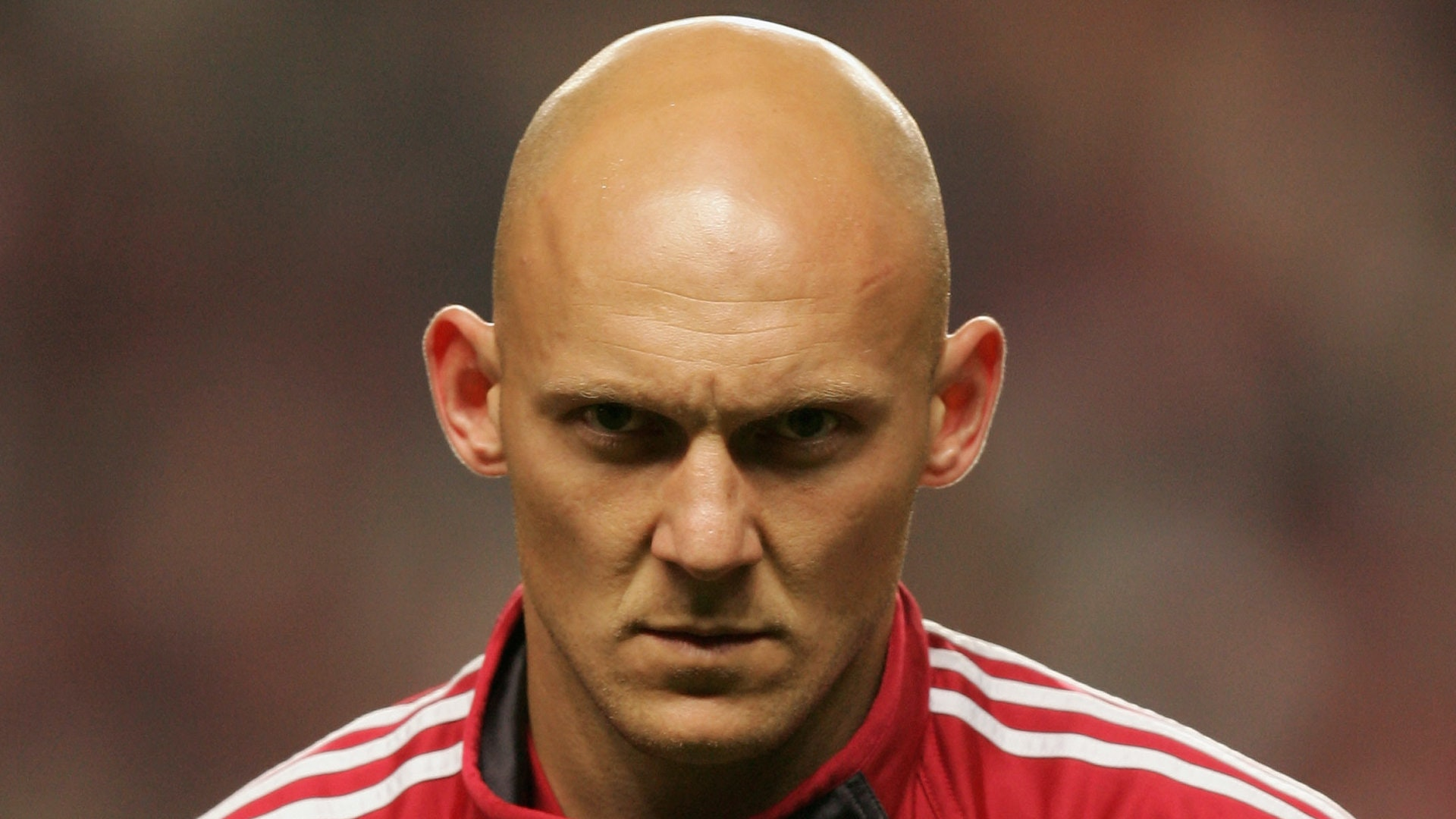 COPENHAGEN, DENMARK - OCTOBER 08:  Thomas Gravesen of Denmark seen before the FIFA World Cup 2006 Group 2 Qualifier match between Denmark and Greece at the Parken Stadium on October 8, 2005 in Copenhagen, Denmark.  (Photo by Martin Rose/Bongarts/Getty Images)