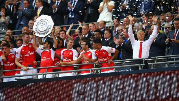 during the FA Community Shield match between Chelsea and Arsenal at Wembley Stadium on August 2, 2015 in London, England.