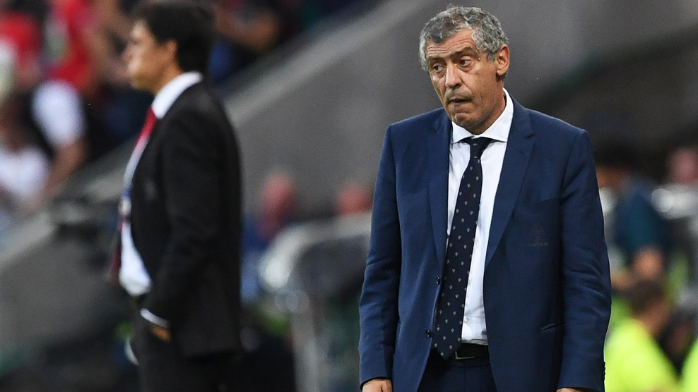 Portugal's coach Fernando Santos attends the Euro 2016 semi-final football match between Portugal and Wales at the Parc Olympique Lyonnais stadium in Décines-Charpieu, near Lyon, on July 6, 2016.. / AFP / Francisco LEONG (Photo credit should read FRANCISCO LEONG/AFP/Getty Images)